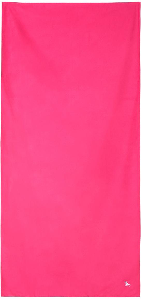 Toalla de playa de microfibras Classic, Microfibra (80%poliéster, 20%poliamida), Rosa, An 90 x L 200 cm