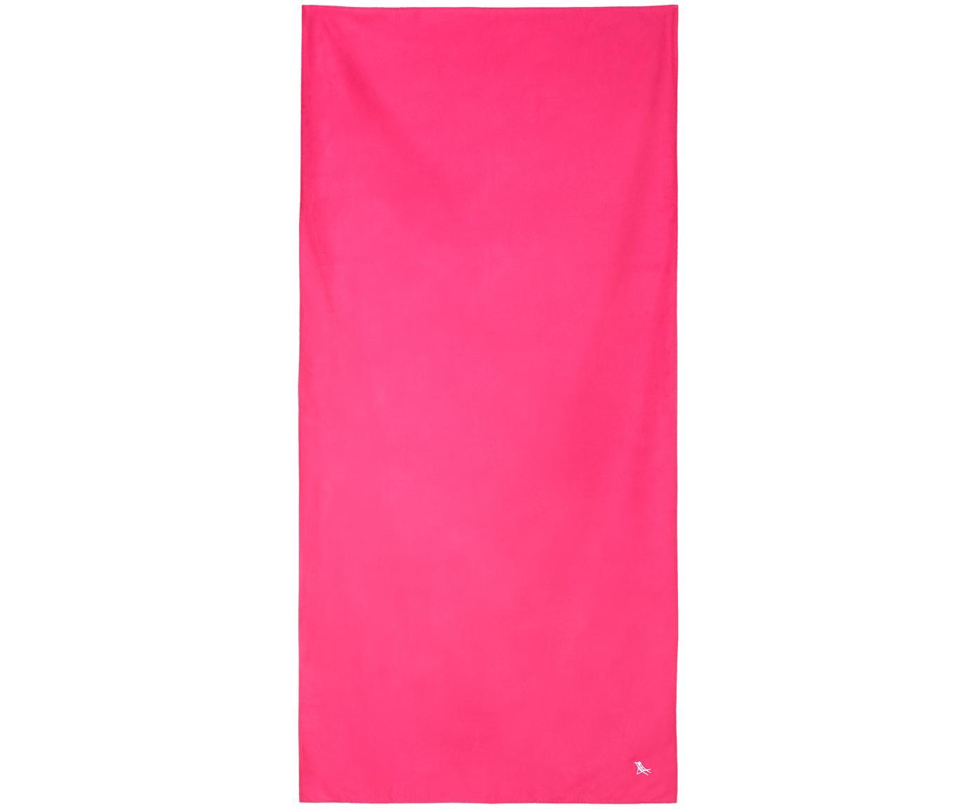 Telo mare in microfibra Classic, ad asciugatura rapida, Microfibra (80% poliestere, 20% poliammide), Rosa, Larg. 90 x Lung. 200 cm