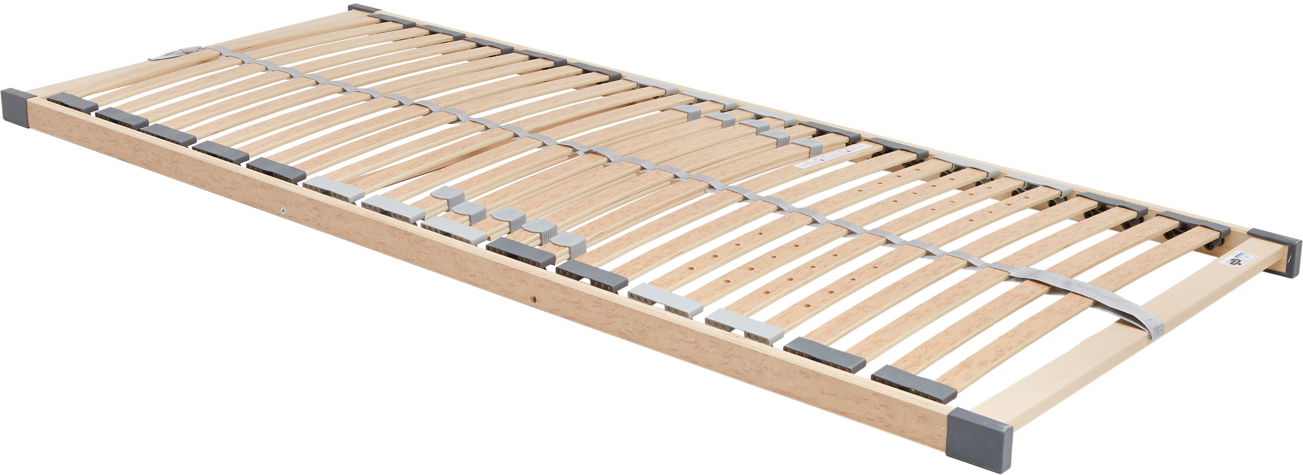 Somier Comfort Plus, Láminas: tablones de madera con de, Pestañas: plástico, Beige, 80 x 200 cm