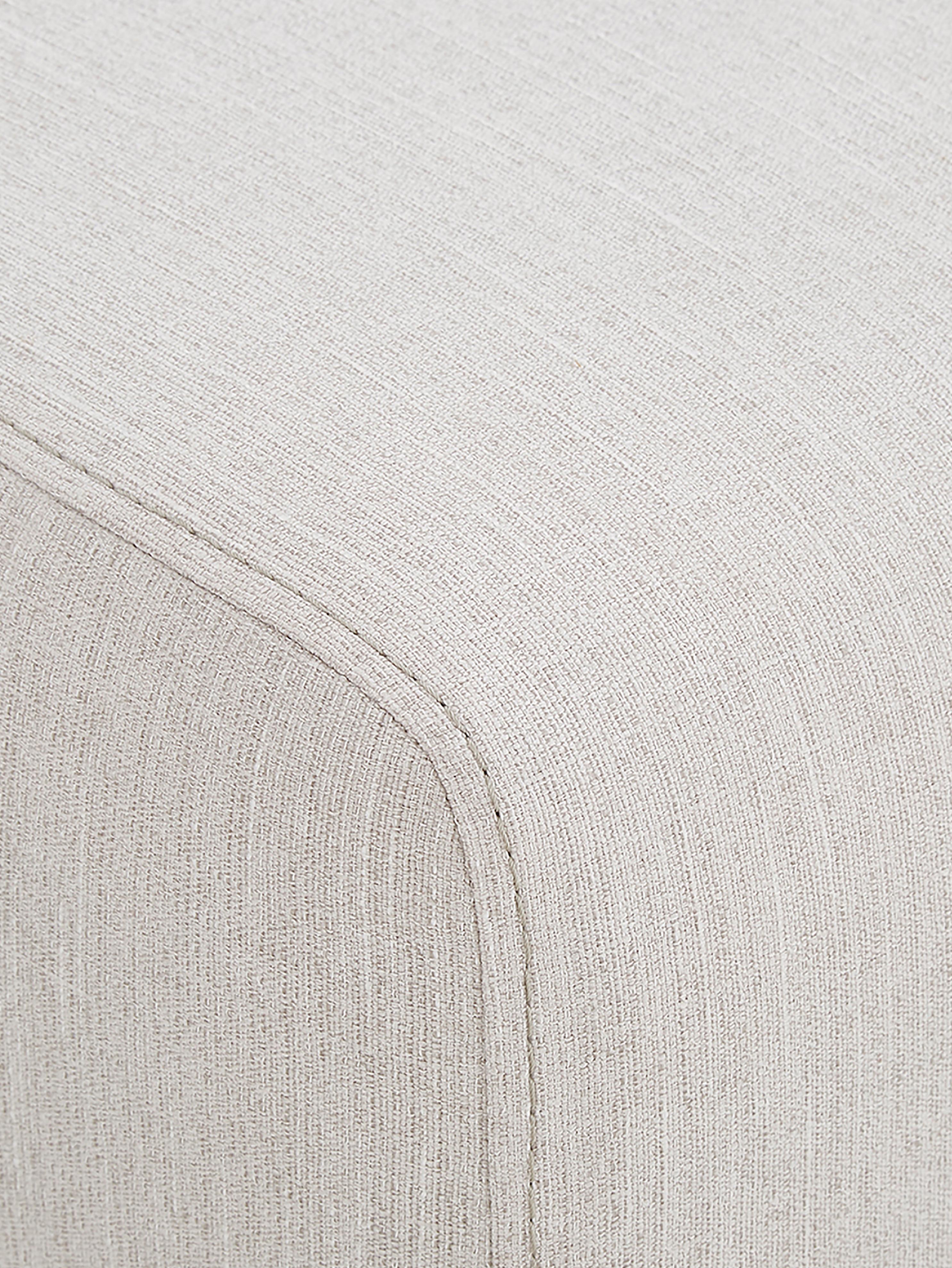 Divano 2 posti in tessuto beige Carrie, Rivestimento: poliestere 50.000 cicli d, Struttura: trucciolato, faesite, com, Piedini: metallo verniciato, Tessuto beige, Larg. 176 x Prof. 86 cm