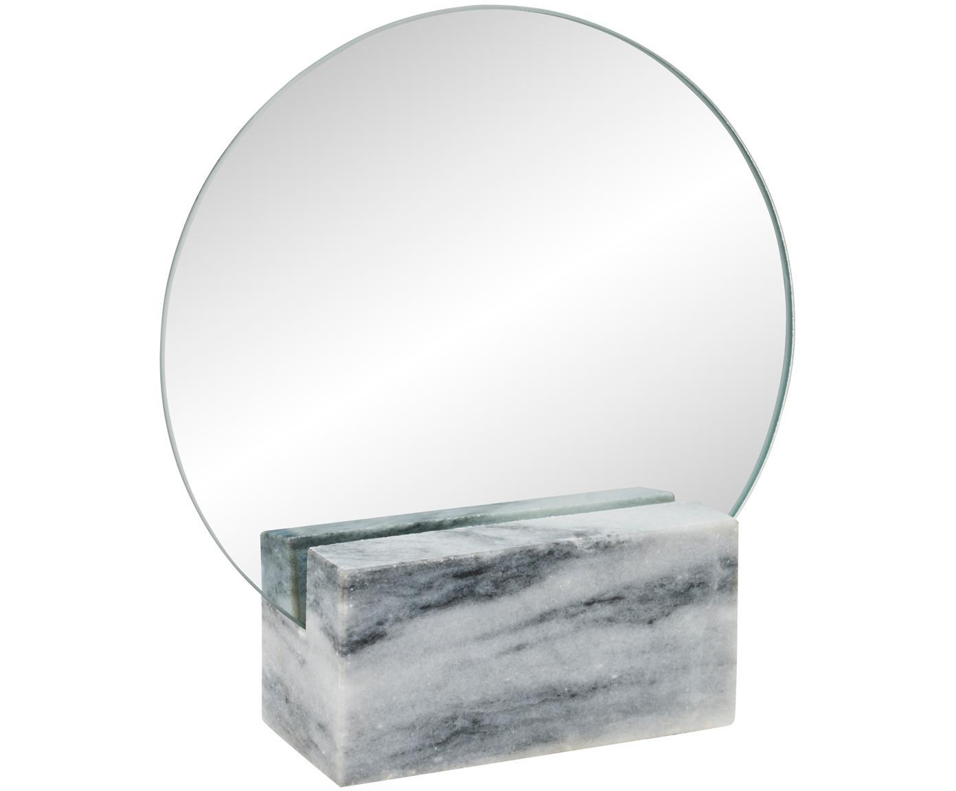 Make-up spiegel Humana, Poten: marmer, Grijs, 17 x 19 cm