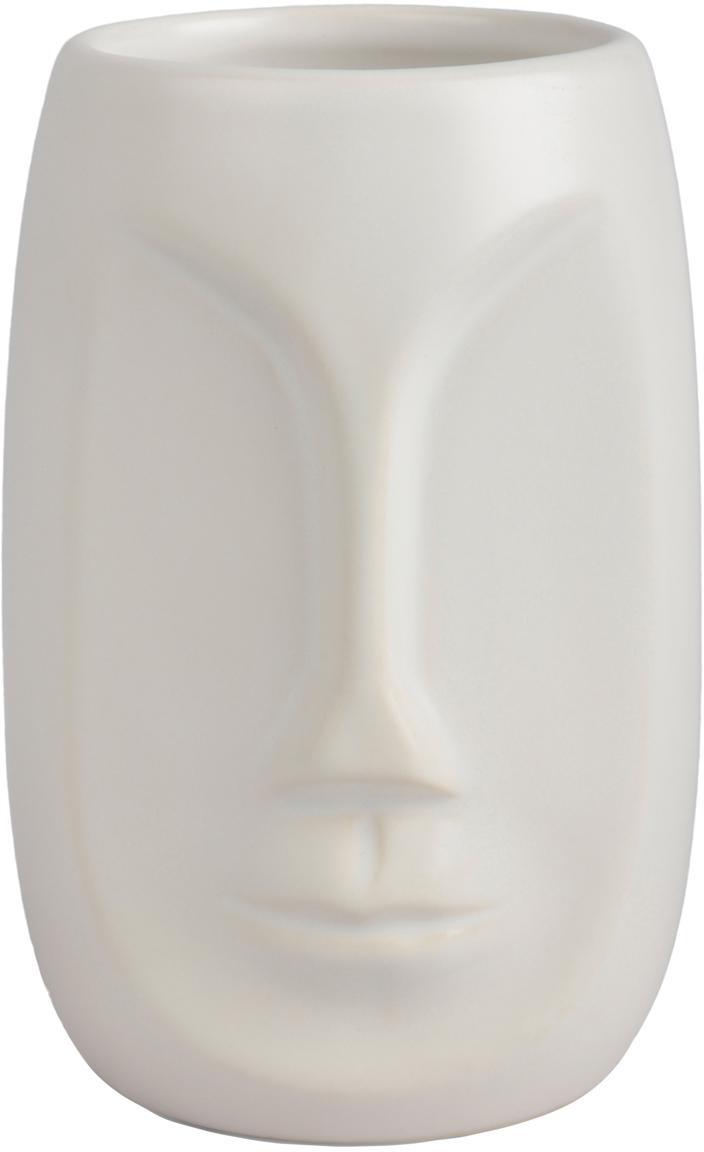 Vaso cepillo de dientes Urban, Cerámica, Blanco, Ø 7 x Al 11 cm