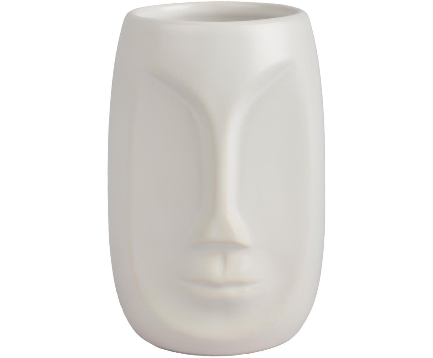 Porta spazzolini Urban, Ceramica, Bianco, Ø 7 x Alt. 11 cm
