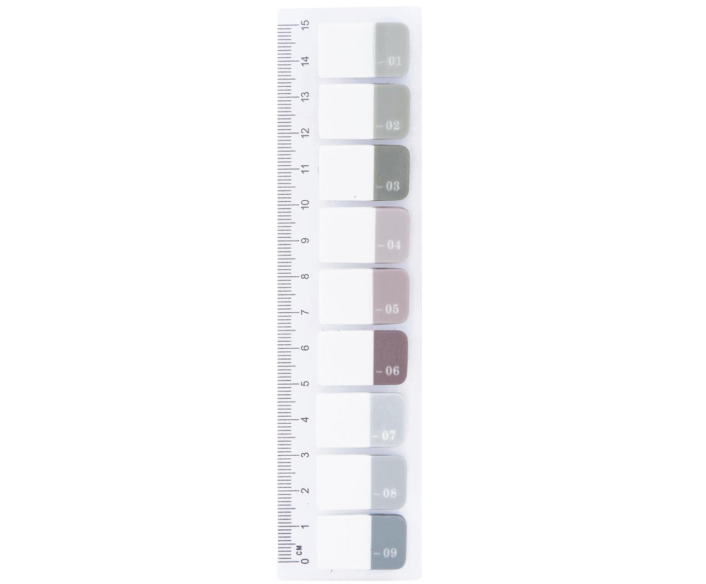 Liniaal Index, Kunststof, Multicolour, 4 x 15 cm