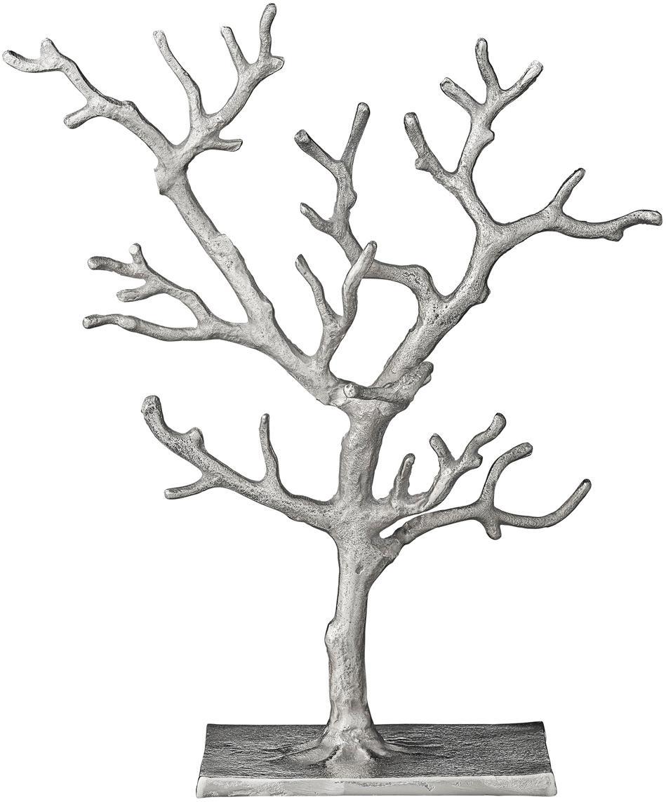 Schmuckhalter Tressa, Aluminium, beschichtet, Silberfarben, 28 x 33 cm