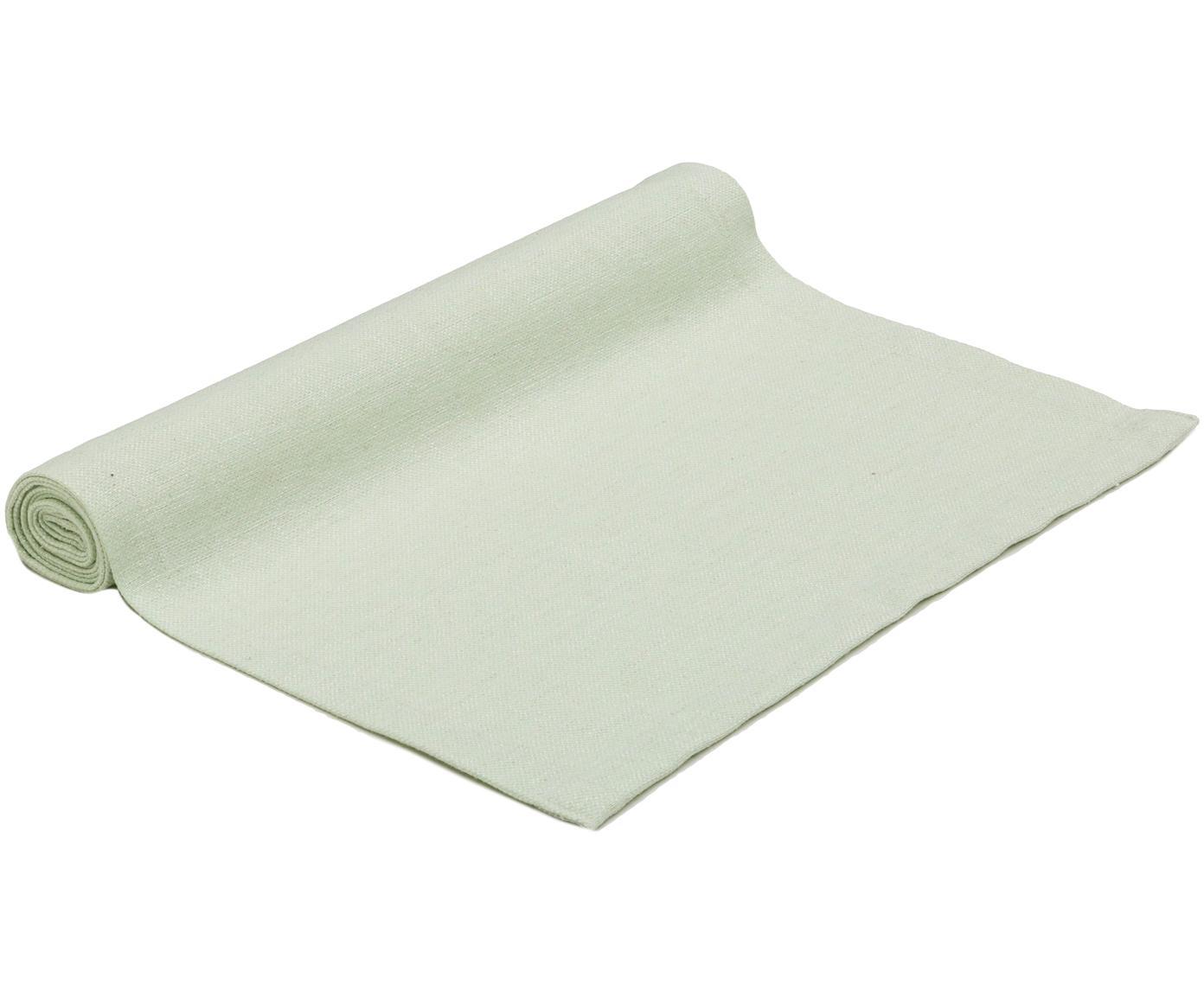 Tischläufer Riva, 55%Baumwolle, 45%Polyester, Pastellgrün, 40 x 150 cm