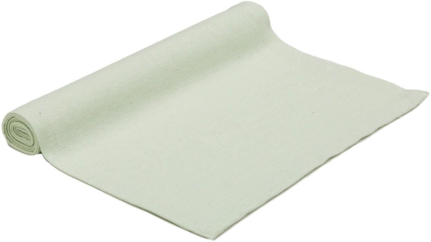 Runner da tavolo Riva, 55% cotone, 45% poliestere, Verde pastello, Larg. 40 x Lung. 150 cm