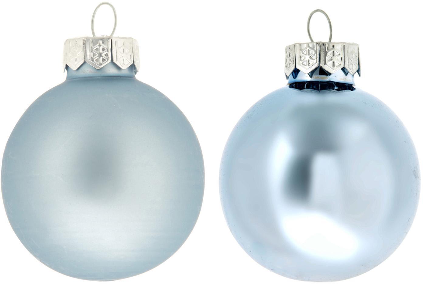 Weihnachtskugel-Set Evergreen Ø6cm,10-tlg., Eisblau, Ø 6 cm