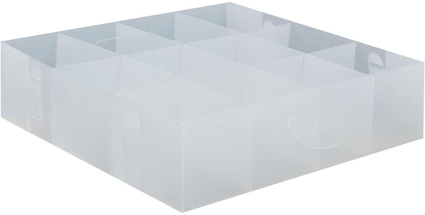 Organizadores Basami, 4uds., Polipropileno, Transparente, An 30 x Al 8 cm