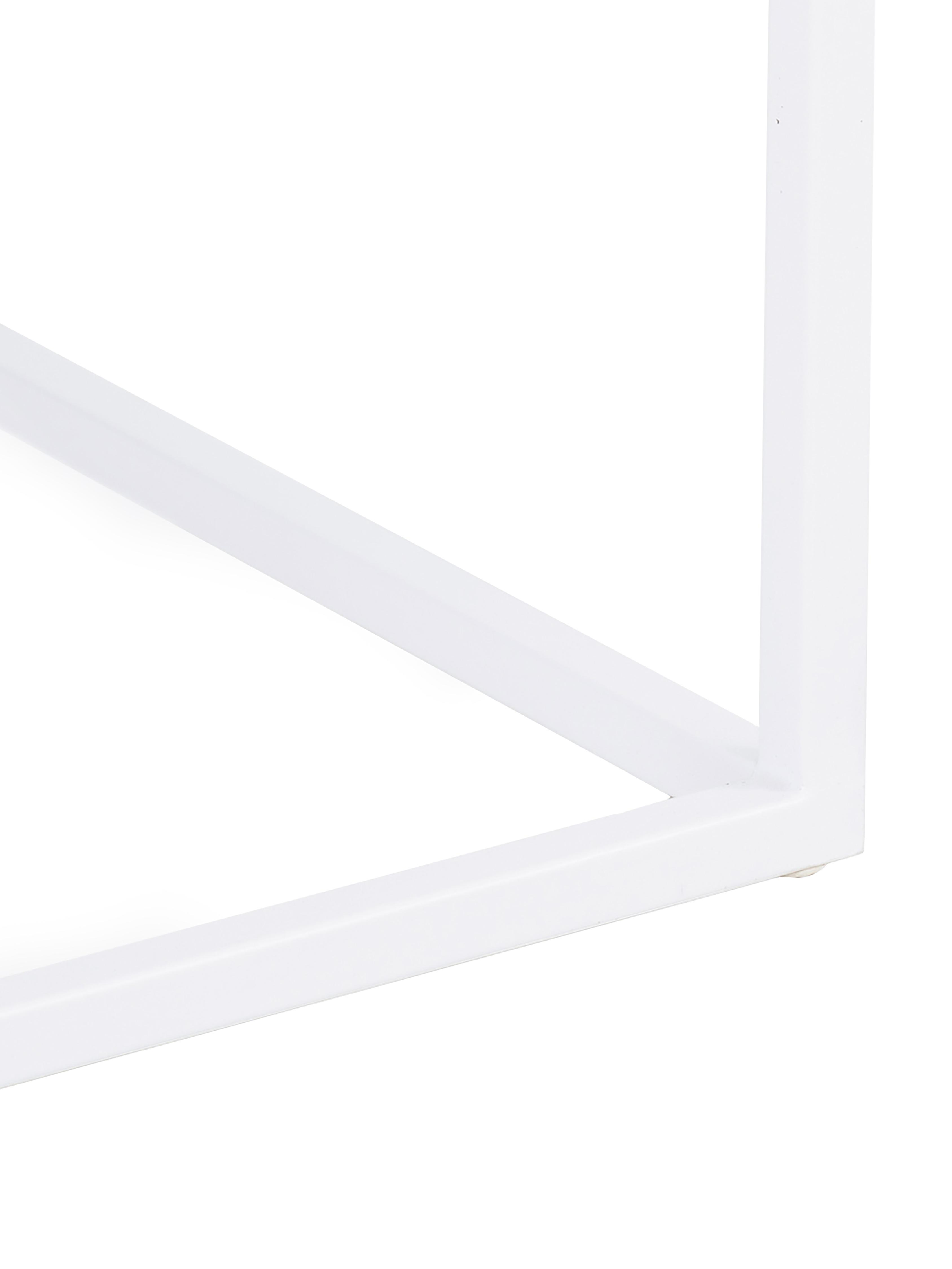 Beistelltisch Stina aus Metall, Metall, pulverbeschichtet, Weiß, matt, 45 x 45 cm