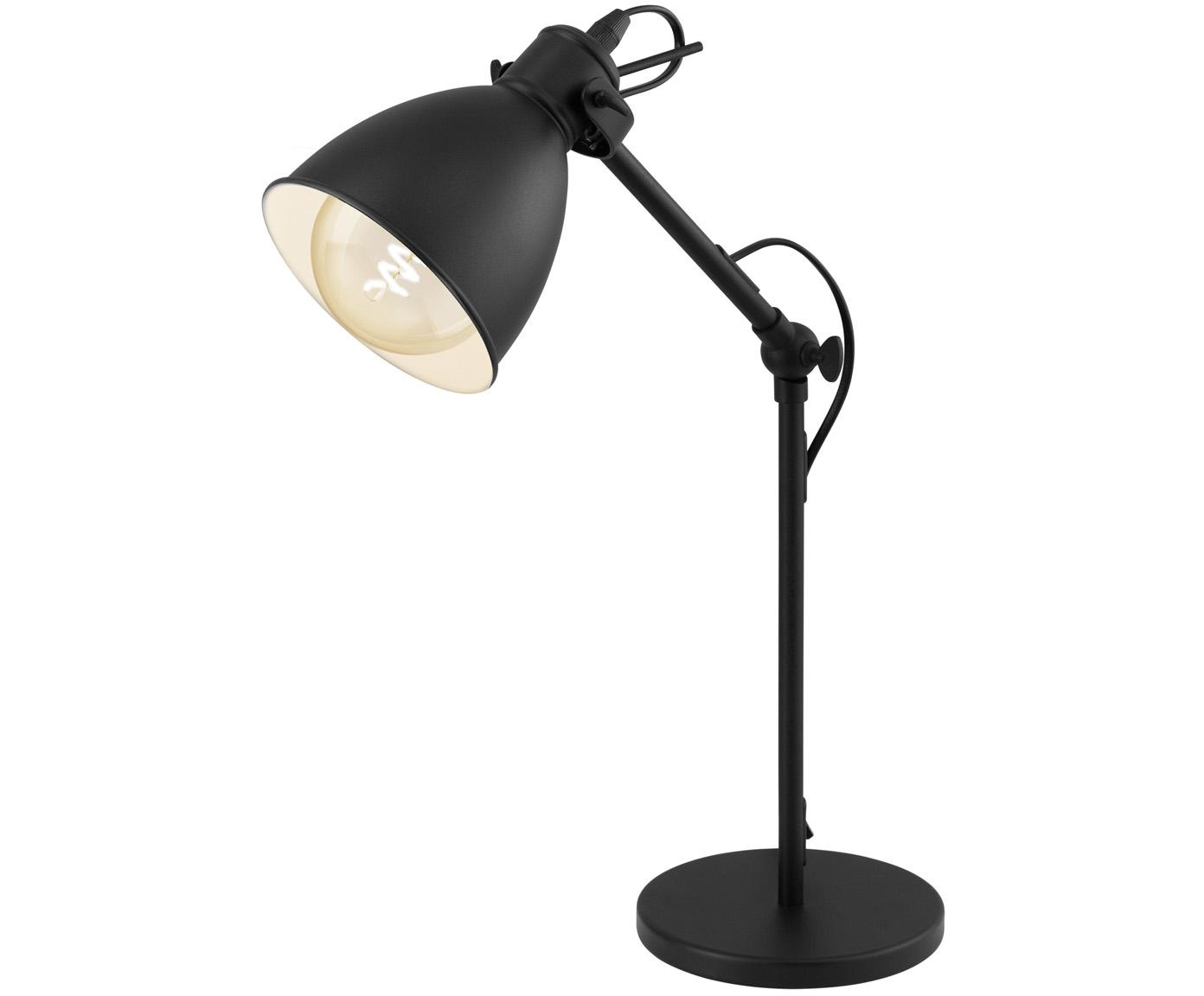 Lámpara de escritorio Ethan, Pantalla: metal con pintura en polv, Cable: plástico, Negro, ∅ 15 x Al 43 cm