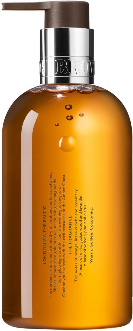 Flüssige Handseife Molton (Orange & Rosmarin), Behälter: Recycelbarer Kunststoff, Orange, Ø 6 x H 15 cm
