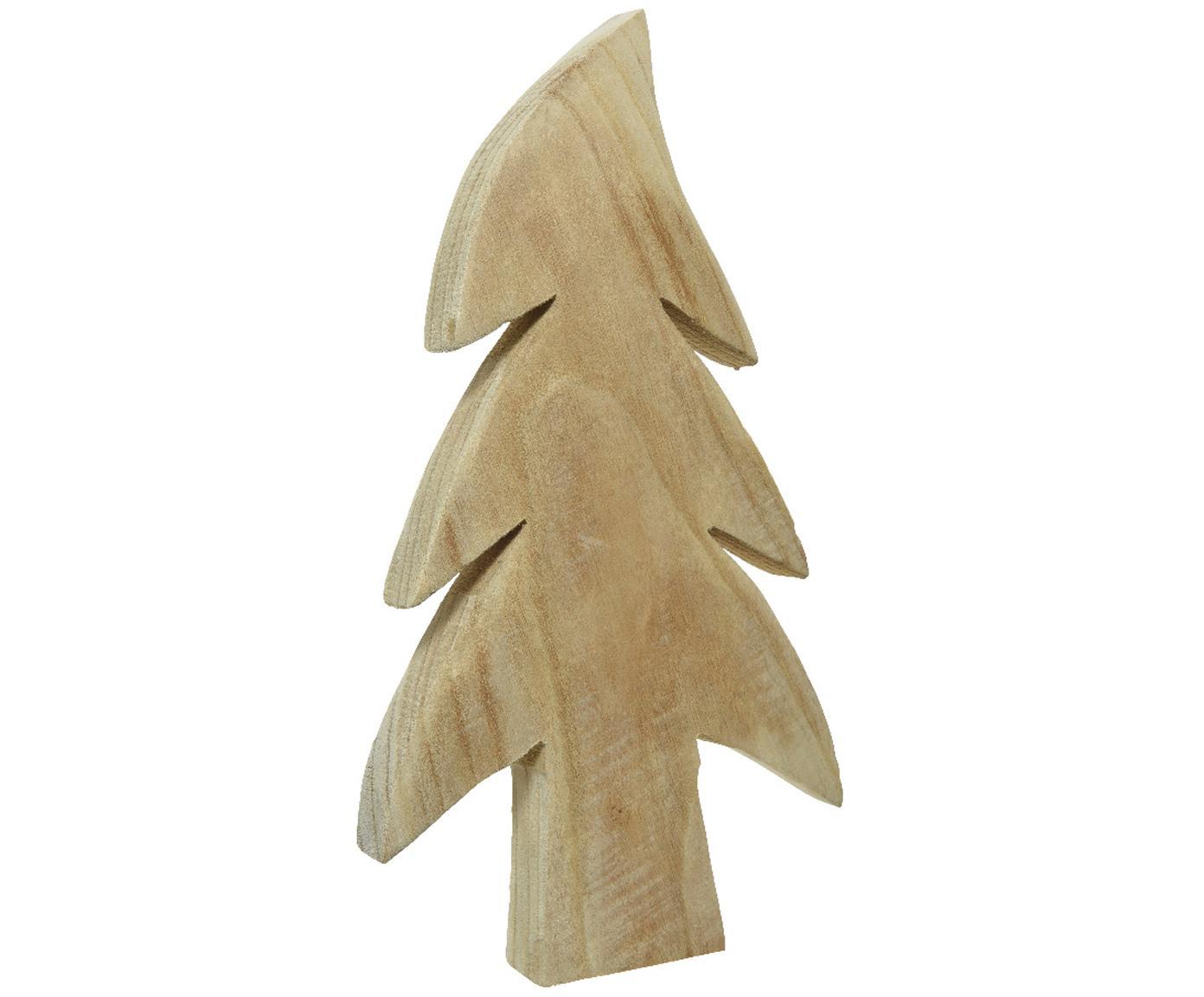 Dekoracja Twinkle, Drewno paulownia, Drewno paulowania, S 14 x W 28 cm