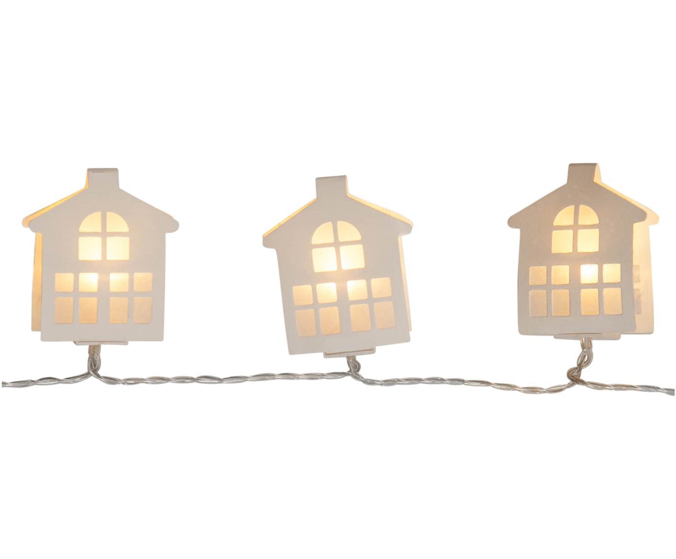 Guirnalda de luces LED Paperwork,225cm, Linternas: papel, Cable: plástico, Blanco, L 225 cm