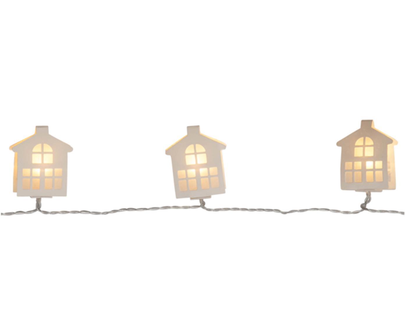 Ghirlanda a LED Paperwork, Lung. 225 cm, Lanterne: carta, Bianco, Lung. 225 cm