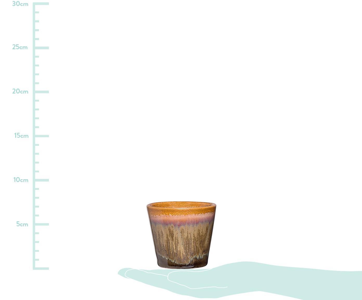 Komplet ręcznie wykonanych świeczników na podgrzewacze Kuna, 3 elem., Kamionka, Wielobarwny, Ø 8 x W 7 cm