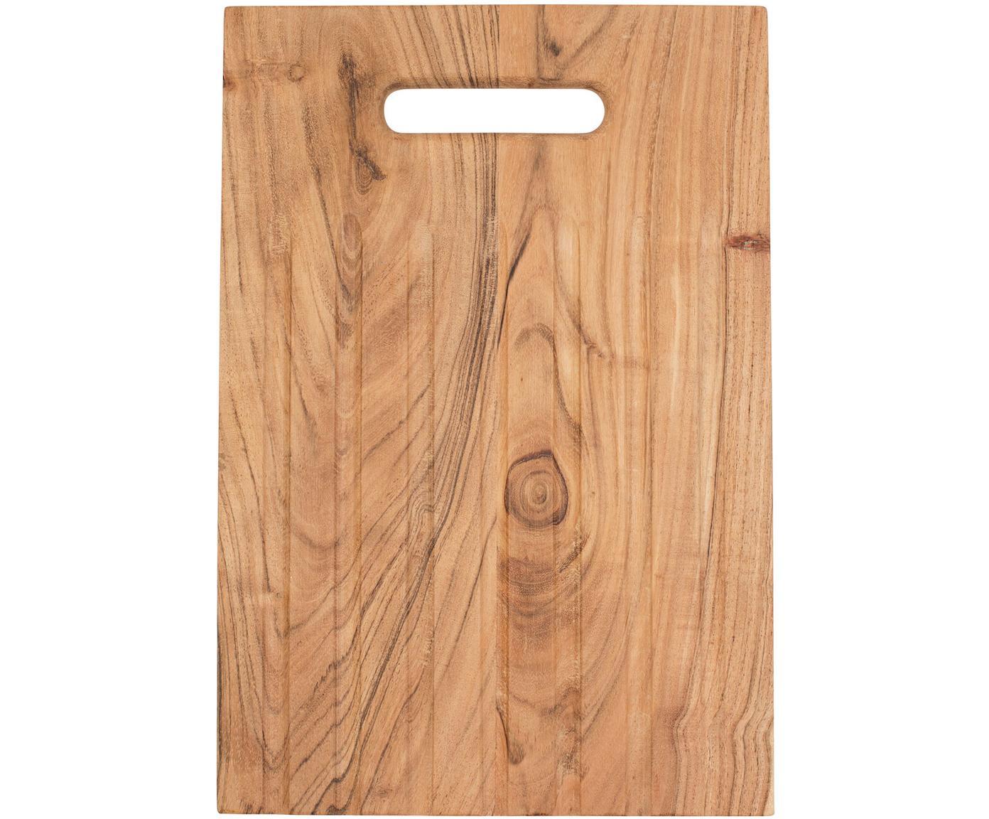 Deska do krojenia z drewna akacjowego Bert, Drewno akacjowe, Drewno akacjowe, S 38 x G 25 cm