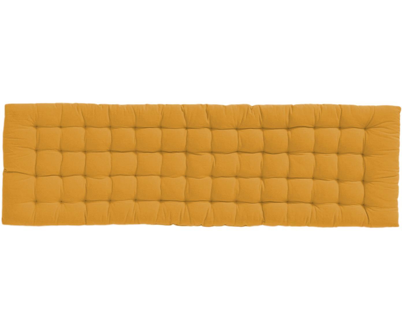 Cuscino sedia Gavema, Giallo senape, Larg. 40 x Lung. 120 cm