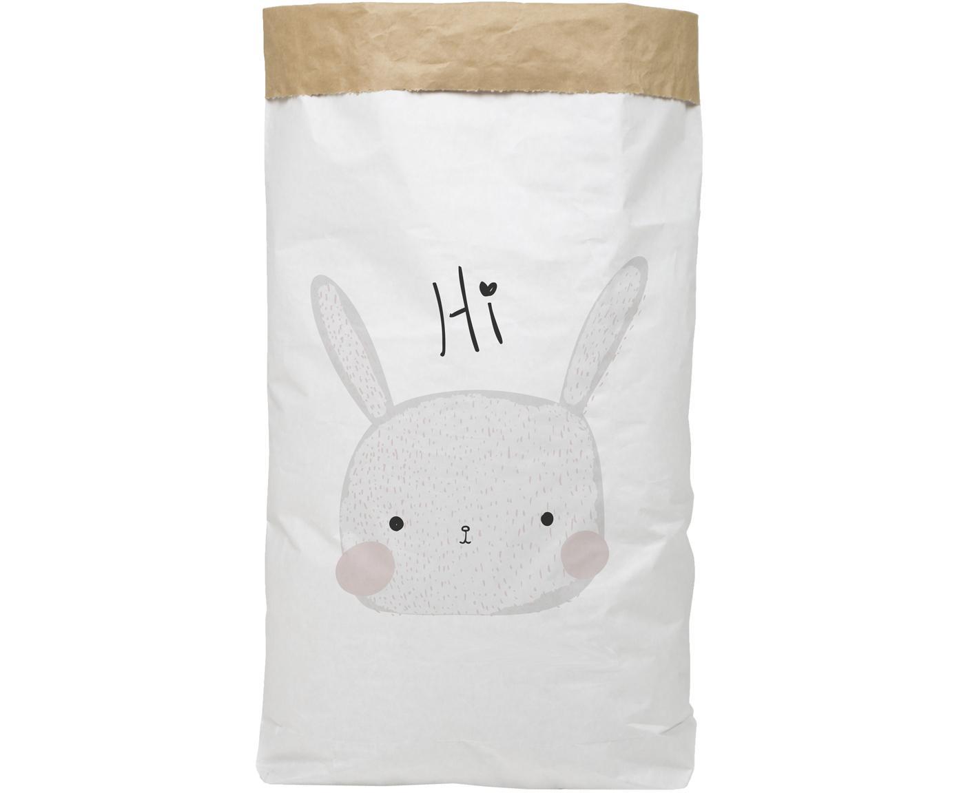 Torba do przechowywania Rabbit, Papier recyklingowy, Biały, czarny, szary, blady różowy, S 60 x W 90 cm