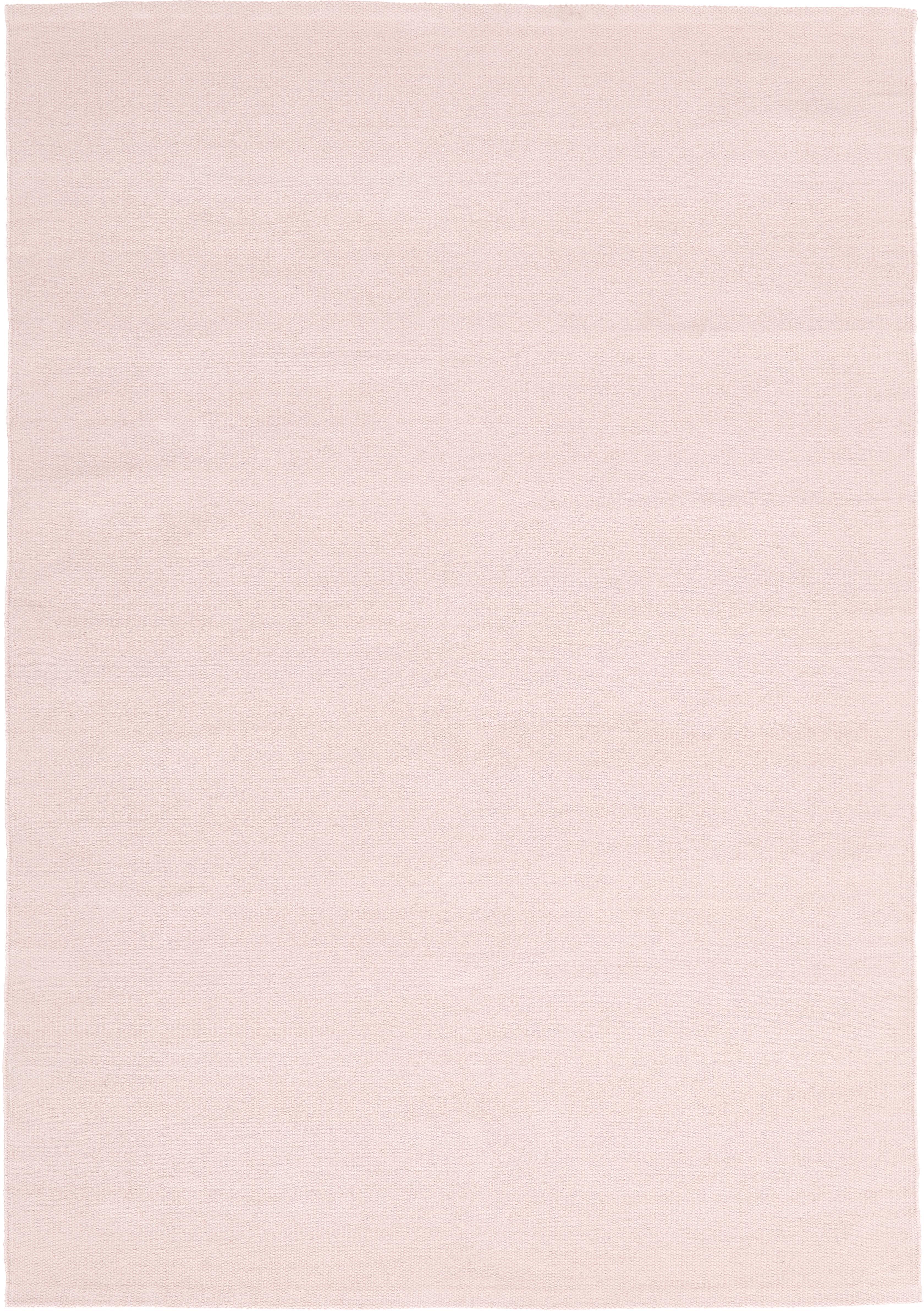 Ręcznie tkany dywan z bawełny Agneta, Bawełna, Blady różowy, S 160 x D 230 cm