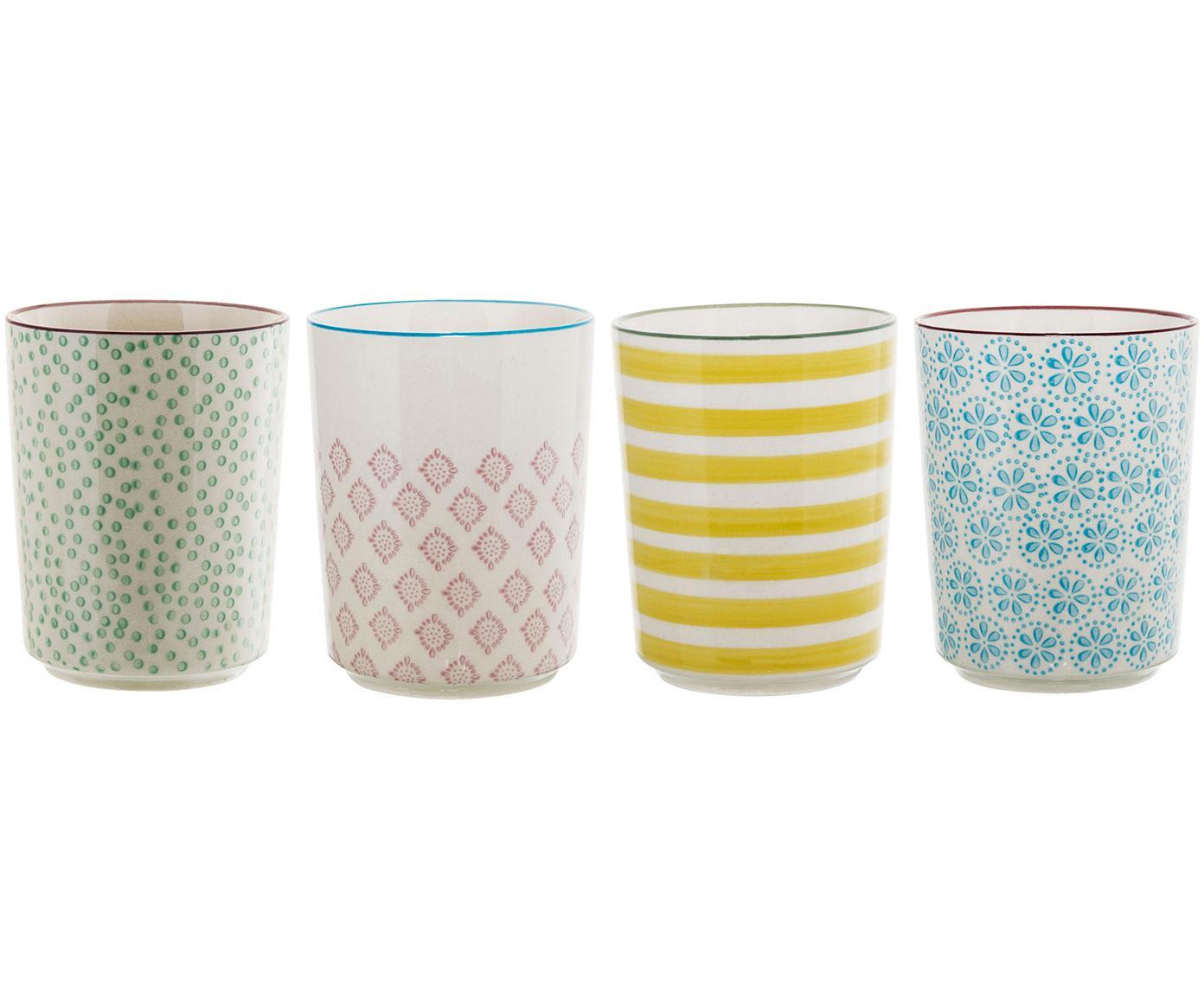 Set de tazas Patrizia, 4pzas., Gres, Multicolor, Ø 7 x Al 10 cm