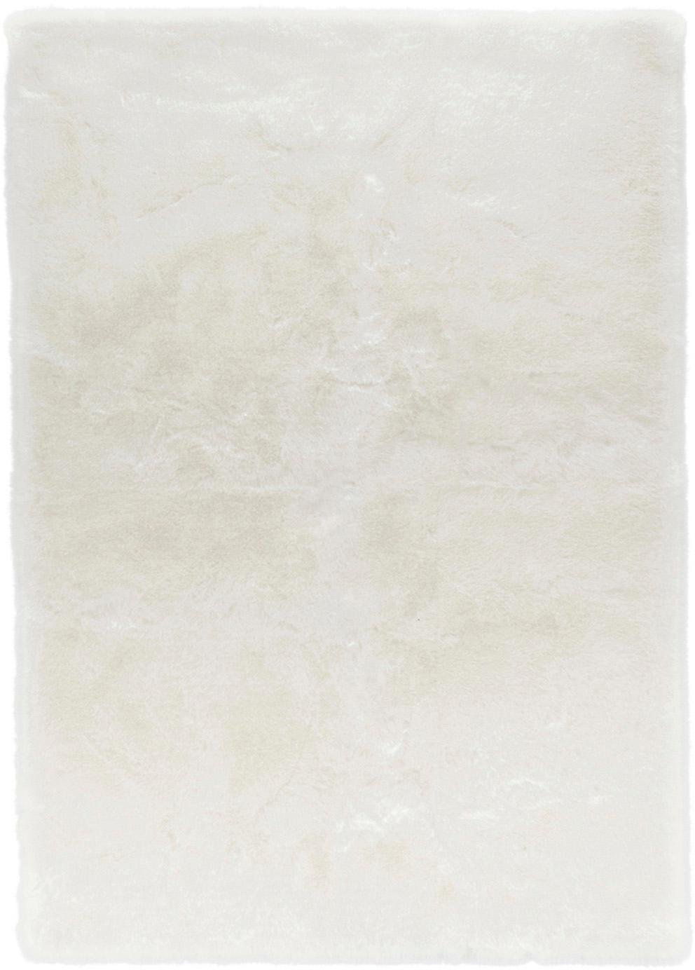 Flauschiger Hochflor-Teppich Superior aus Kunstfell, Flor: 95% Acryl, 5% Polyester, Weiss, B 120 x L 170 cm (Grösse S)
