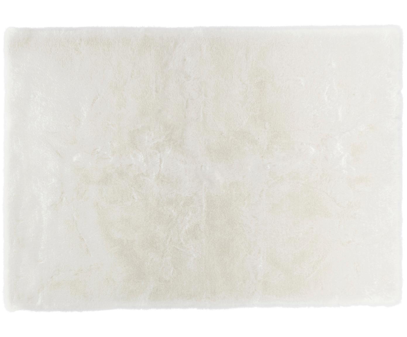 Tappeto a pelo morbido Superior, Vello: 95% acrilico, 5% polieste, Retro: similpelle, Bianco, Larg. 120 x Lung. 170 cm (taglia S)