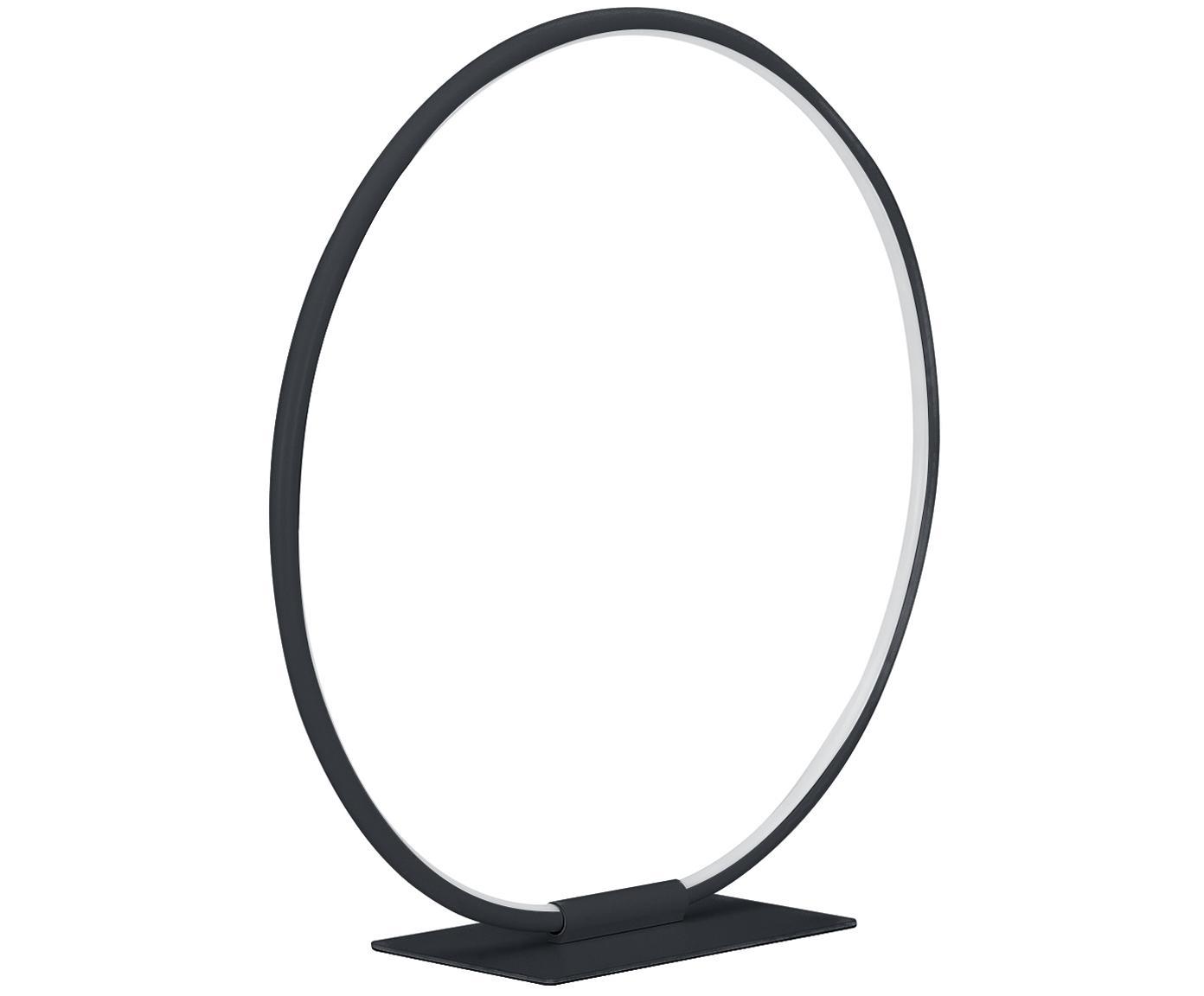 Lámpara de mesa LED Jay, Pantalla: aluminio con pintura en p, Cable: plástico, Negro mate, Ø 43 x Al 44 cm