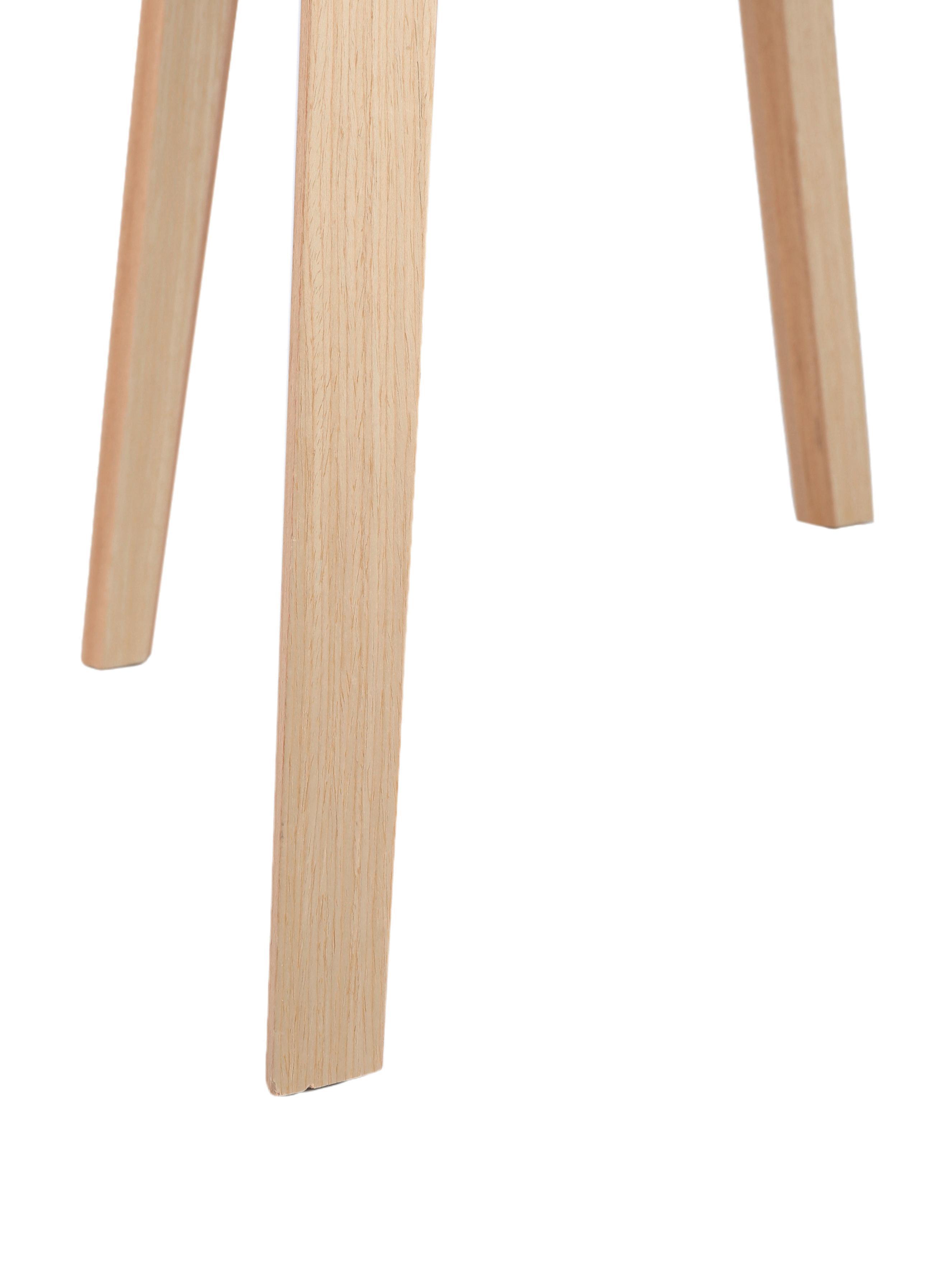 Polsterstuhl Claire mit Armlehne, Sitzschale: Kunststoff, Bezug: Polyester 20.000 Scheuert, Beine: Buchenholz, Webstoff Grau, B 54 x T 60 cm