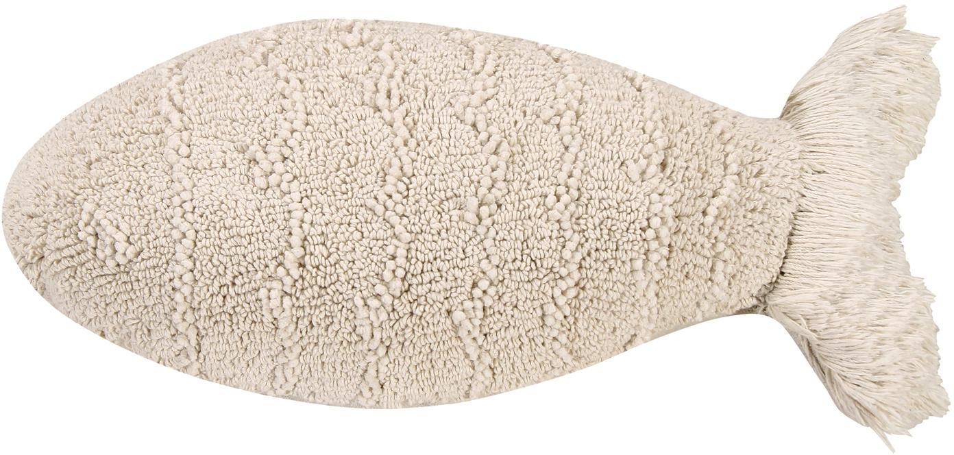 Cuscino pesce imbottito Baby Fish, Rivestimento: 97% cotone, 3% cotone ric, Beige, Larg. 30 x Lung. 60 cm