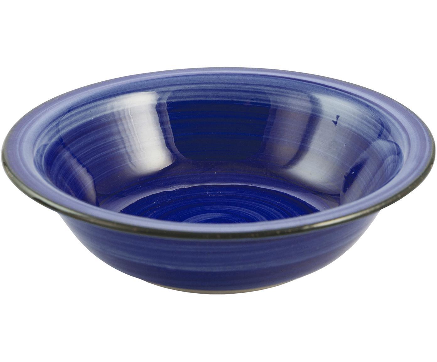 Suppenteller Baita, 6 Stück, Steingut (Hard Dolomite), handbemalt, Blau, Ø 22 cm