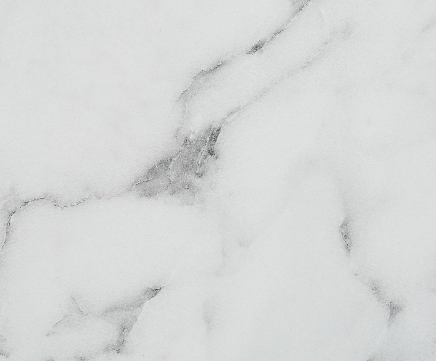 Beistelltisch Lesley in Marmoroptik, Mitteldichte Holzfaserplatte (MDF), mit Melaminfolie überzogen, Weiss, marmoriert, 45 x 50 cm