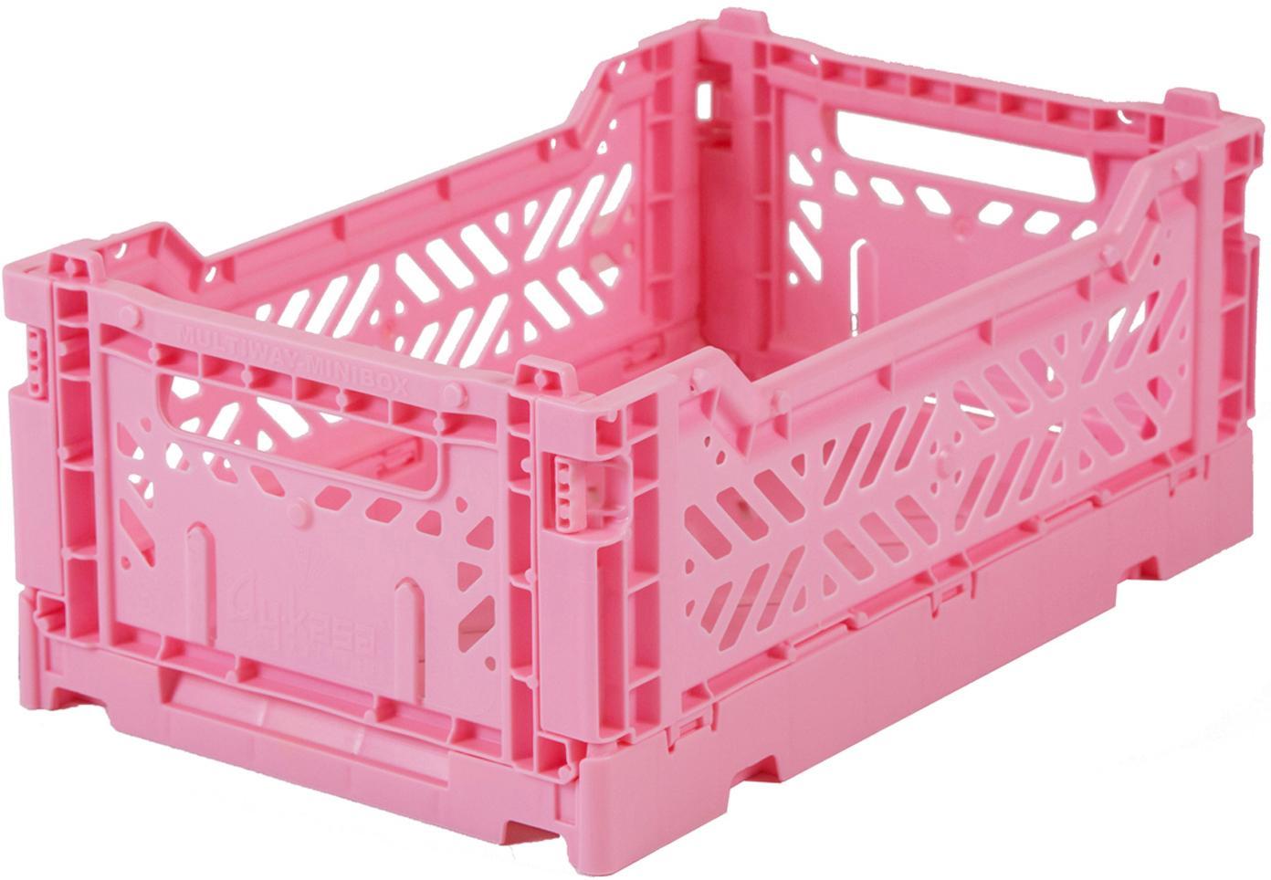 Krat Baby Pink, stapelbaar, klein, Gerecycled kunststof, Roze, 27 x 11 cm