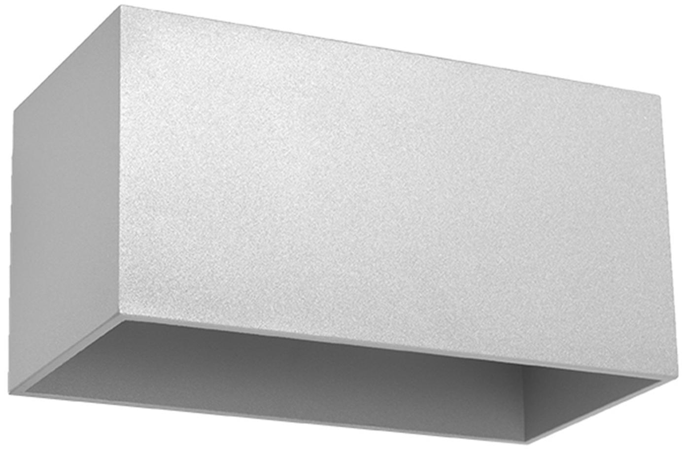 Wandleuchte Geo Maxi, Aluminium, Grau, 20 x 10 cm