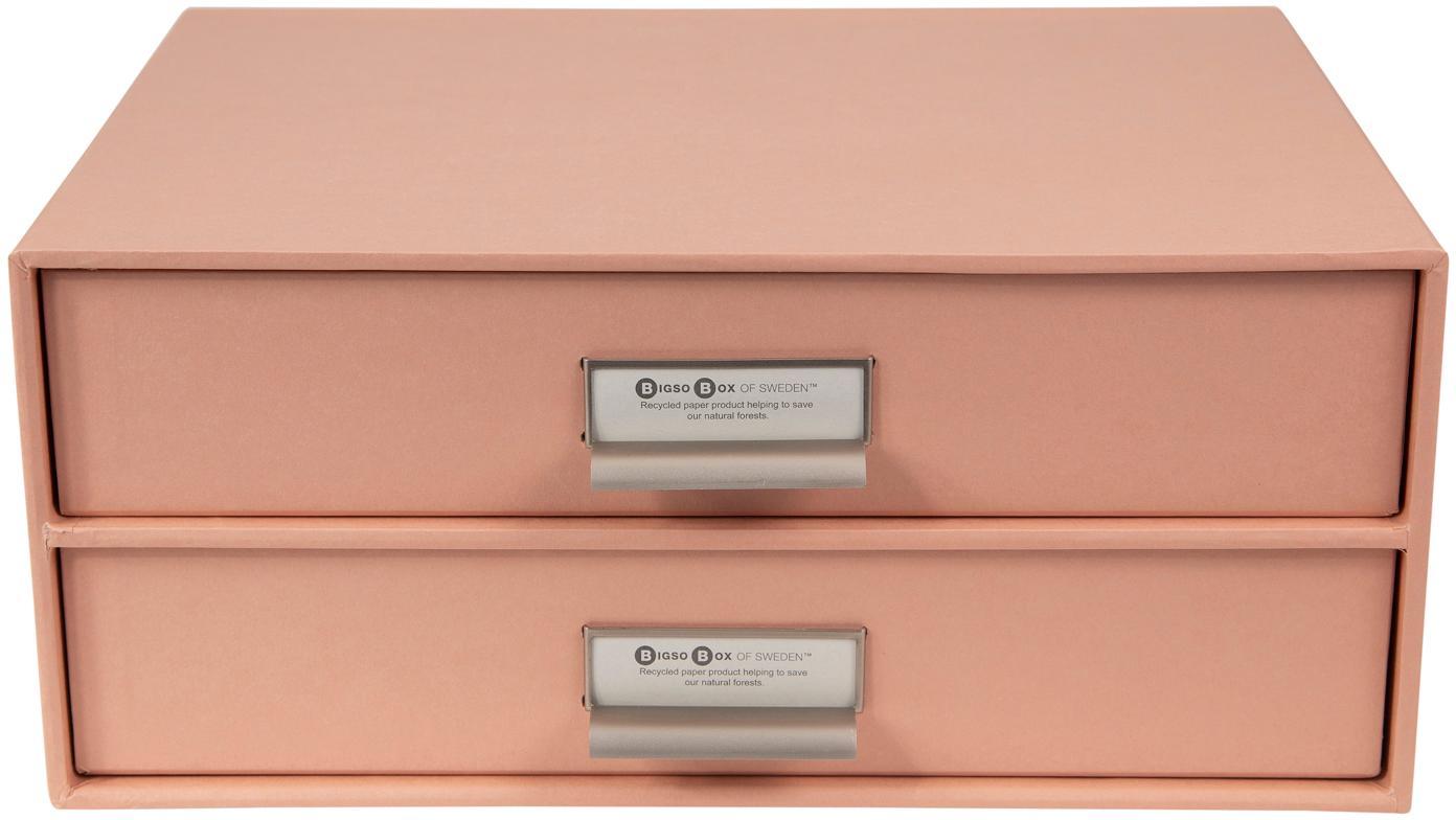 Büro-Organizer Birger, Organizer: Fester, laminierter Karto, Altrosa, 33 x 15 cm