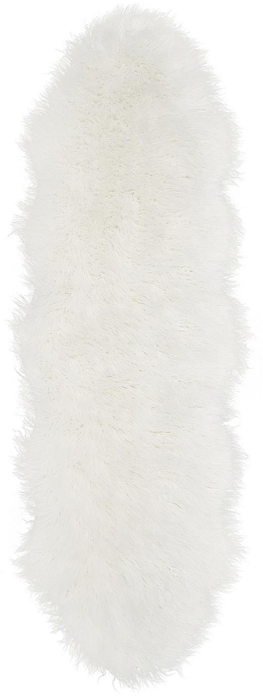 Alfombra de piel sintética Morten, rizada, Parte delantera: 67%acrílico, 33%poliést, Parte trasera: poliéster, Crema, An 60 x L 180 cm