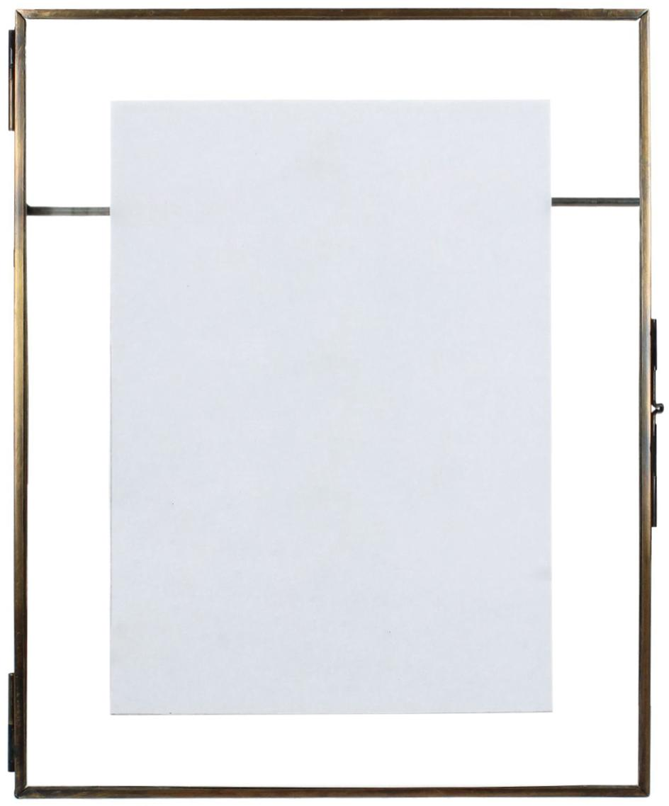 Bilderrahmen Collector Wall, Rahmen: Messing, beschichtet, Front: Glas, Bronzefarben, 13 x 18 cm