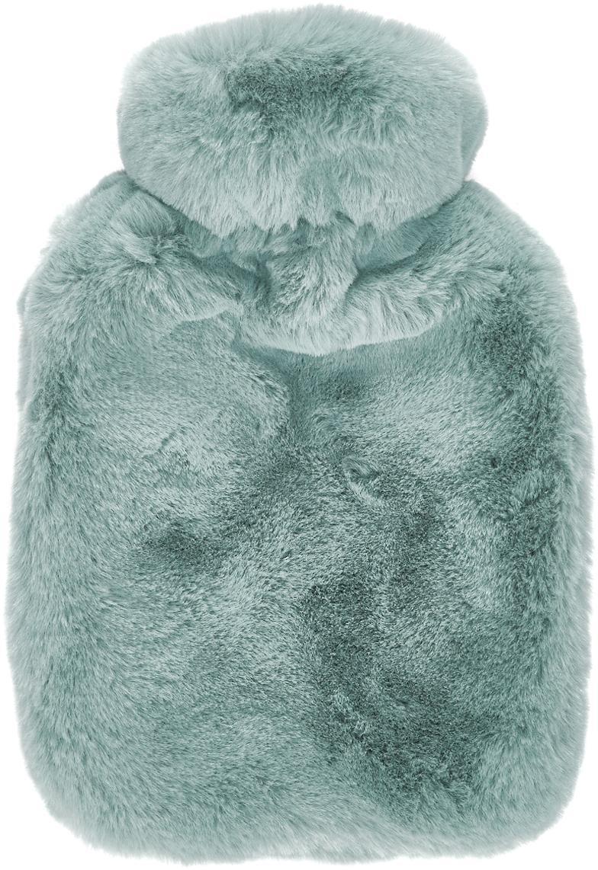 Termofor ze sztucznym futrem Mette, Tapicerka: 100% poliester, Zielony, S 20 x D 32 cm