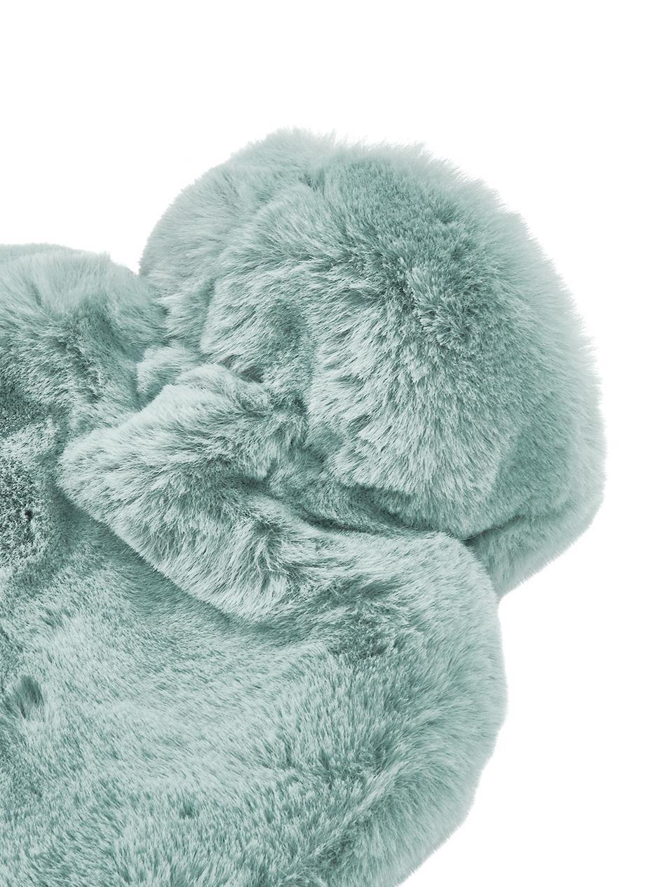 Kunstfell Wärmflasche Mette, Bezug: 100% Polyester, Grün, 23 x 35 cm