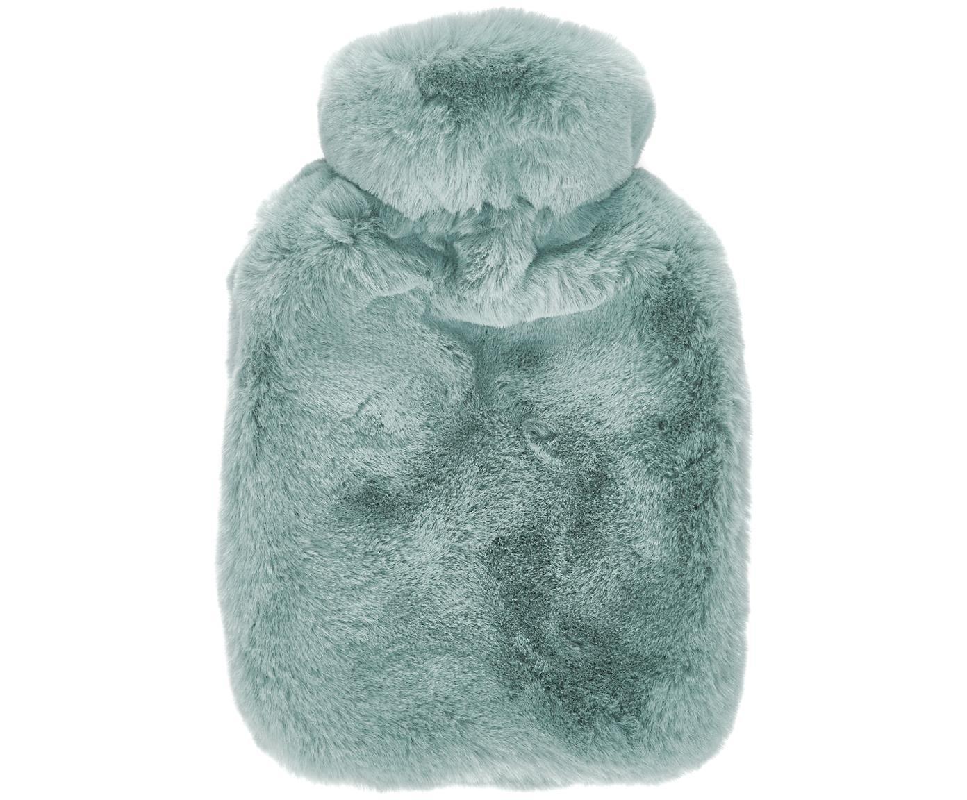 Borsa dell'acqua calda in pelliccia sintetica Mette, Rivestimento: 100% poliestere, Verde, Larg. 20 x Lung. 32 cm