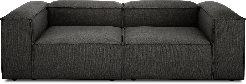 Sofá modular Lennon (3plazas), Tapizado: poliéster Alta resistenci, Estructura: madera de pino maciza, ma, Patas: plástico, Tejido gris antracita, An 238 x F 119 cm