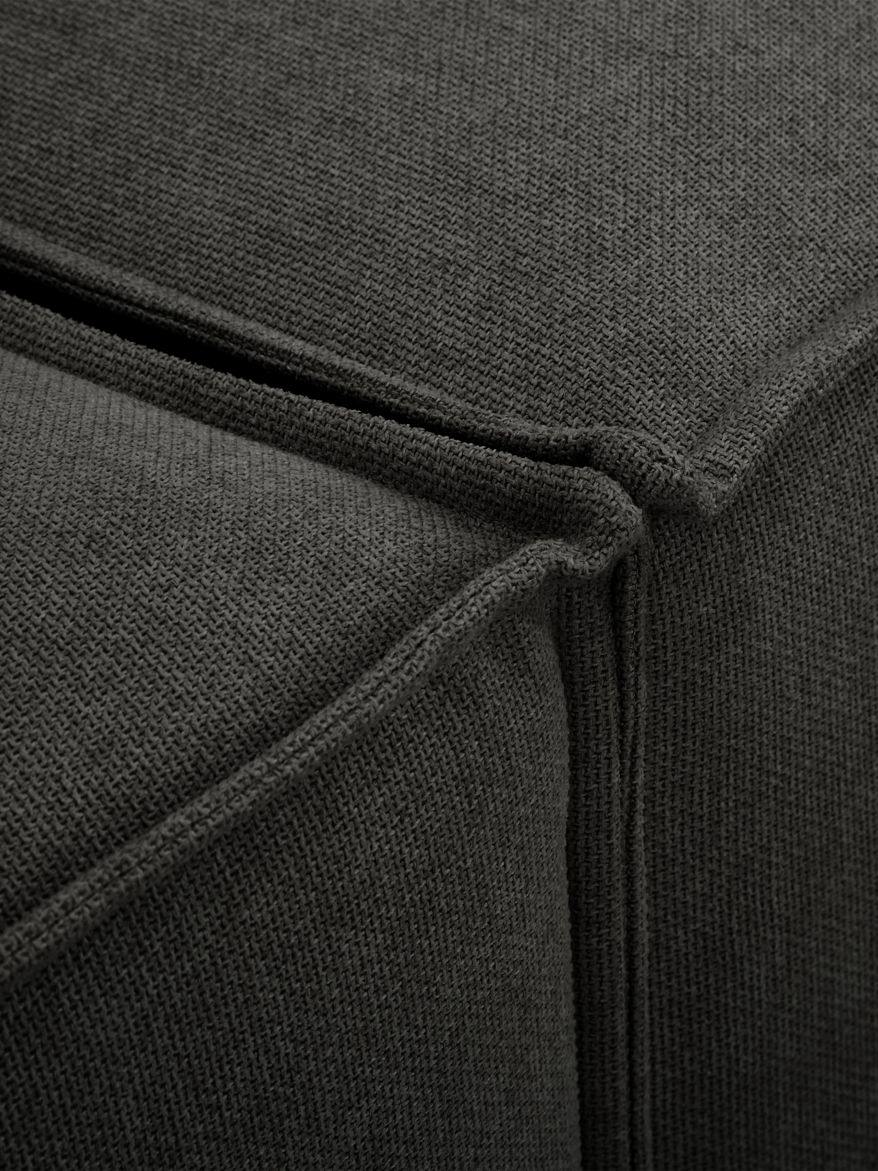 Modulares Sofa Lennon (3-Sitzer), Bezug: Polyester Der hochwertige, Gestell: Massives Kiefernholz, Spe, Füße: Kunststoff, Webstoff Anthrazit, B 238 x T 119 cm