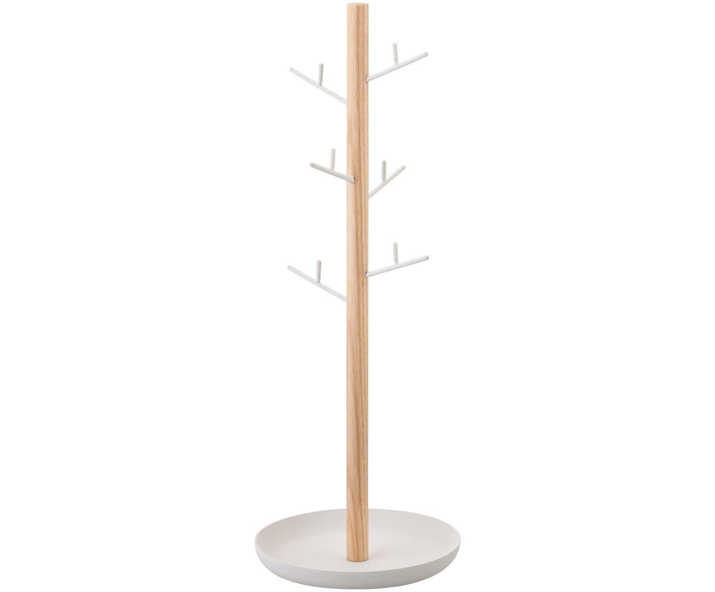 Sieradenhouder Tosca, Stang: hout, Wit, bruin, 13 x 36 cm
