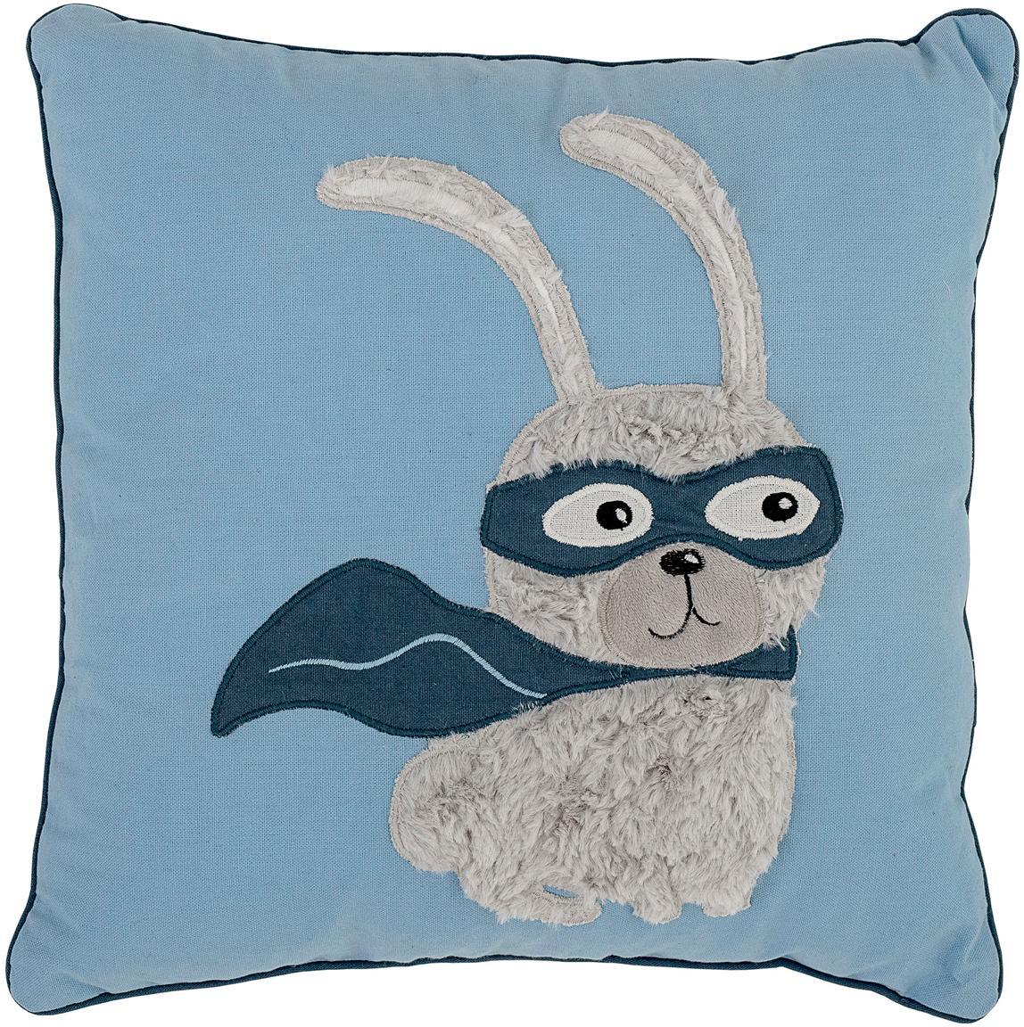 Poduszka Hero, z wypełnieniem, Tapicerka: 70 % bawełna, 30 % polies, Niebieski, S 40 x D 40 cm