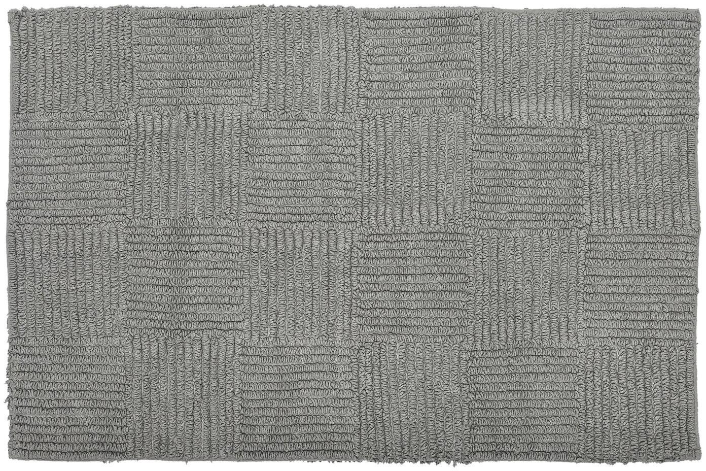 Tappeto bagno Sienna, Cotone, Grigio, Larg. 60 x Lung. 90 cm