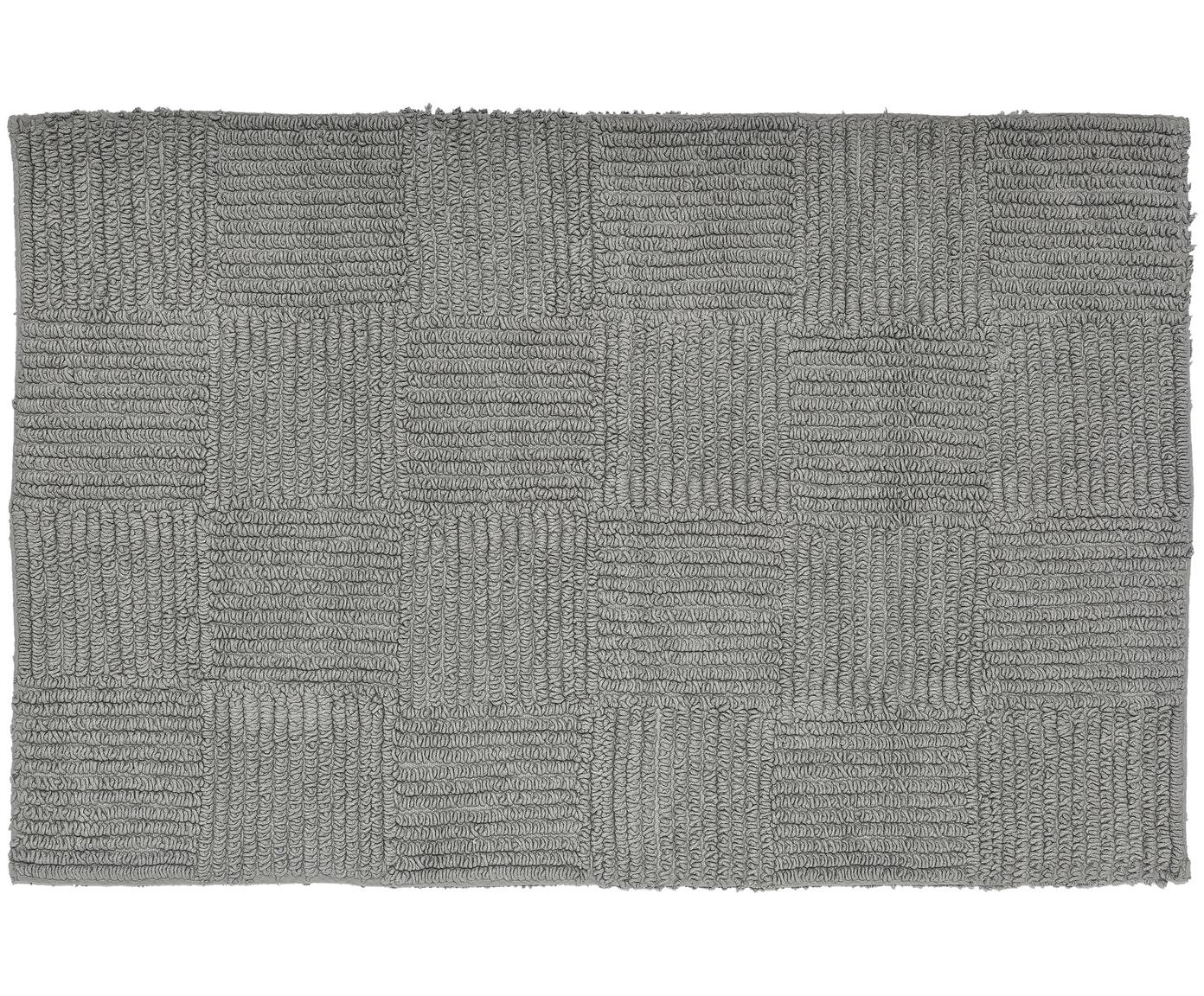 Badmat Sienna, Katoen, Grijs, 60 x 90 cm