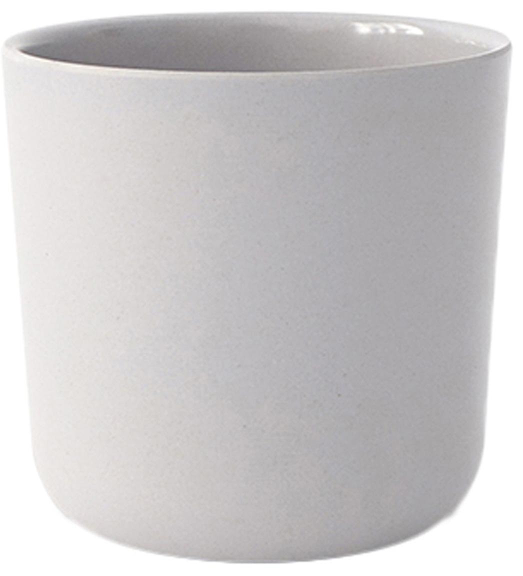 Set tazze senza manico in bambù Bambino 2 pz, Fibra di bambù, melamina, adatto per alimenti Senza BPA, PVC e senza ftalati, Grigio chiaro, 250 ml