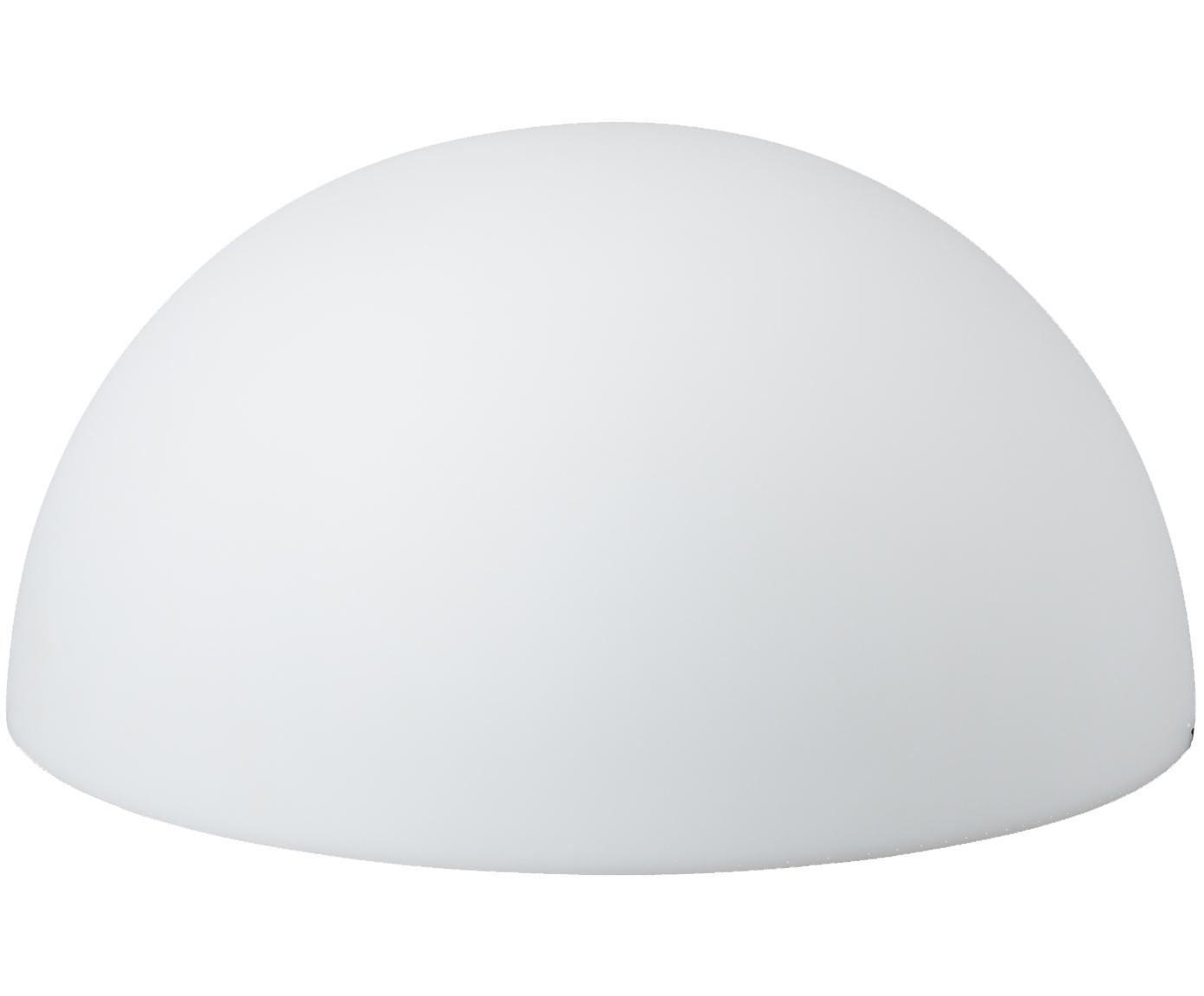 Außen-Bodenleuchte Mezzo mit Stecker, Kunststoff, Weiß, Ø 65 x H 32 cm