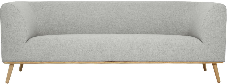 Sofa Archie (3plazas), Tapizado: 100%lana, Estructura: madera de pino, Patas: madera de roble maciza en, Tejido gris claro, An 222 x Al 80 cm