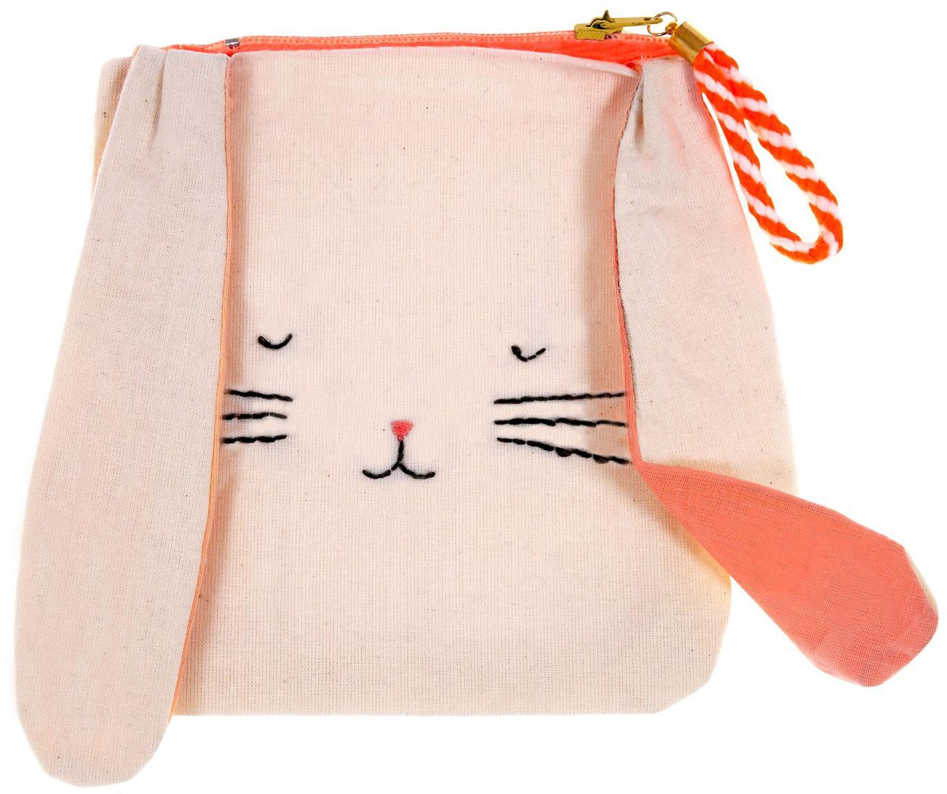 Kinder-Geldbeutel Bunny, Leinen, Beige, Orange, Schwarz, 13 x 15 cm